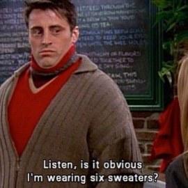 Friends six sweaters