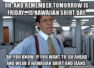 hawaiian shirt day