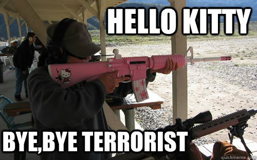 Hello-kitty-bye-bye-terrorist-Terrorists-Meme